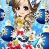 我が家のクリスマスツリーの話&ゲーム「恋してキャバ嬢」のアバター♪ロイヤルブルーのクリスマスドレス編