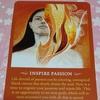 12月のカード INSPIRE PASSION  情熱を触発する