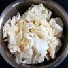 ホットクックで白菜サラダのレシピに挑戦!茹で時間は20分、白菜1/2が消費できました。
