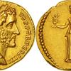 古代ローマ帝国アウレウス金貨 BC158年アントニウス ピウス NGC 5/5 5/5