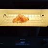 オーブントースタービストロで焼く デリシャストマトソースのピザとクロワッサンとロールパン