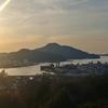 宇和島 夕日を見て鯛めしを食す