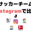 2019 サッカークラブ Instagram比較 (Jリーグ / プレミアリーグ / リーガ・エスパニョーラ / セリエA / ブンデスリーガ)