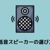 EDM勢なら持っておきたい重低音スピーカー。買うときは○○を重視せよ!