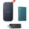 【①Sandisk 外付けポータブルSSD 1TB ②BUFFALO 外付け超小型ポータブルSSD 960GB ③BUFFALO 外付けUSBタイプの超小型ポータブルSSD 250GBのレビュー】取り回しのしやすい外付けポータブルSSD3点の簡単比較。