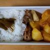 今日のお弁当  カレーなべのじゃがいもと焼肉味の焼き鳥