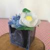 紫陽花と夏椿のキャンドル