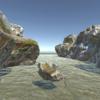 1つの岩でステージを作る