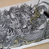 パズドラ塗り絵より・覚醒ヤマタノオロチ☆制作過程