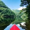 【朝靄を切り裂いて青い湖面を漕ぎ進む】…ただこの言葉に魅かれて@「白井屋ホテル」