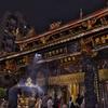夜の龍山寺を拝拝(バイバイ)~参拝には作法があるようで、門を入るときは左足から!