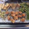幸運な病のレシピ( 1407 )夜:ハタハタ・キス・ゴーヤ・鶏もも唐揚げ、汁(仕立直し)
