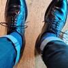 晴れなのに雨靴履いて出勤(^ω^)