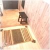 玄関マット キリム 室内 屋内 50×80 ラグ ラグマット おしゃれ 手織りインド キリム エスニックもいいよ!