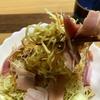 食欲がないときにいかが? 中華サラダそばベーコン乗せ。