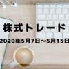 2020年5月7日~5月15日 株式トレード