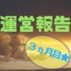 【運営報告】ブログ開設3ヵ月目のPVと収益【大幅に減少】