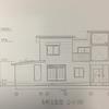 木造2階建専用住宅の課題(立面図・断面図)