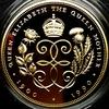 イギリス1990年皇太后90年記念5ポンド金貨 製造番号45番