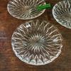 昭和レトロなプレスガラスのお皿 銘々皿