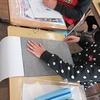5年生:図工 版画 下絵から彫りへ