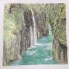 【ぬり絵2】宮崎、高千穂の渓谷