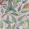 「ひみつの花園」より葉っぱの塗り絵【アレンジ】水滴を足してみた