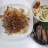 7/1の夕飯☆ 半額食材と頂き物の野菜で、手羽中のスパイス焼き、野菜炒め、ポテトサラダ☆