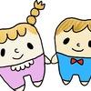 【キャラクターのイラスト】かわいい歯の形をした女の子と男の子 procreate