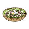 8月31日は「野菜の日」シーザーサラダのイラストを描きました