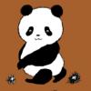 9月だから栗拾いの季節を逃さない パンダのイラスト