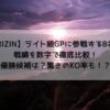 【RIZIN】ライト級GP出場8名の戦績を数字にして徹底比較!優勝候補は??驚きのKO率??