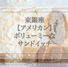 インパクト大!東銀座 喫茶店【アメリカン】のサンドイッチをテイクアウト