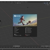 Blender 2.8でモデリングする その1(画面の名称とカメラ操作)