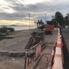 ドンタンビーチ駐車場閉鎖&工事開始