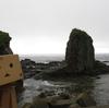 函館市 サンタロナカセ岬にならぶ奇岩たち