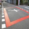 交通ルールを守らないが原因?阿波の黄走り~!交差点を赤枠で囲む