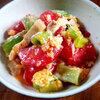 本日の朝食惣菜はトマト+煮豚+長ネギ+卵の中華風炒め<おうちごはん>