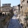フェズ メディナの中心の川底 タネリンの排水