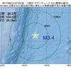 2017年09月15日 07時43分 三陸沖でM3.4の地震