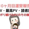 【コアアプデより下がり続けたPVのその後】ブログ初心者の10ヶ月目運営報告【アクセス数・記事数】