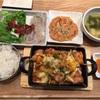 大阪・グランフロント『韓美膳(ハンビジェ)』の『チーズタッカルビセット』
