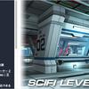 Sci-fi Level Kit モバイルで使える素材!ボリューム満点な「スペースシップ内部/外部」のSF系3Dモデル