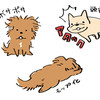 【イラスト】リアル犬のイラストとチャリティー企画
