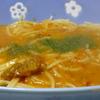 大人むけのパスタ 紅ずわい蟹のトマトクリームスープ仕立て