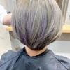 【グレイヘアのデザインカラー】白髪もオシャレに。