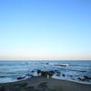 【会瀬海水浴場】広大な太平洋の海に心奪われる【津神社】