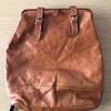 革製のリュック;「背面ファスナーを新しくつける」・・・K's factory