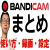 【Bandicamの使い方まとめ】インストール・設定・録画