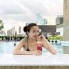 南国タイ・バンコク【Oak Bar】ホテルのプールサイドバーでスムージーを飲みながらクールダウン